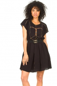 Louizon |  Dress with embroided details Shelter | black  | Picture 4