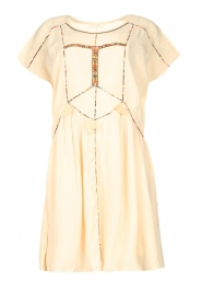 Louizon |  Dress with embroided details Shelter | natural  | Picture 1