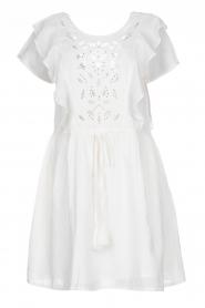 Louizon |  Cotton broderie dress Diamond | natural  | Picture 1