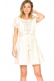 Louizon |  Cotton broderie dress Diamond | natural  | Picture 2