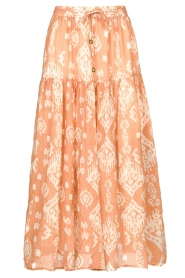 Louizon |  Maxi skirt with drawstring | nude  | Picture 1