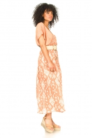 Louizon |  Maxi skirt with drawstring | nude  | Picture 4