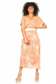 Louizon |  Maxi skirt with drawstring | nude  | Picture 2