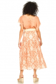 Louizon |  Maxi skirt with drawstring | nude  | Picture 5