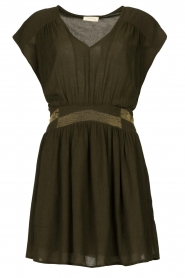 Louizon |  Crêpe dress Bouza | green  | Picture 1