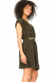 Louizon |  Crêpe dress Bouza | green  | Picture 6