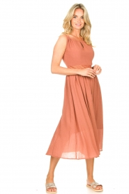 Louizon |  Maxi halter dress Beegees | rusty brown  | Picture 3