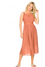 Louizon |  Maxi halter dress Beegees | rusty brown  | Picture 4