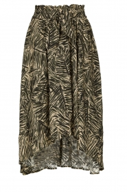 Louizon |  Leaf printed midi skirt Zilio | green  | Picture 1