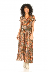 Louizon :  Printed maxi skirt Jesprit | green - img2