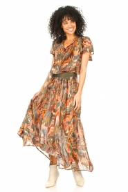 Louizon :  Printed maxi skirt Jesprit | green - img3