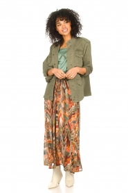 Louizon :  Printed maxi skirt Jesprit | green - img4