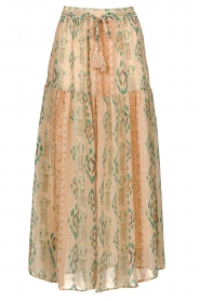 Louizon |  Maxi skirt with drawstring Jarno | nude  | Picture 1