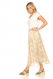 Louizon |  Maxi skirt with drawstring Jarno | nude  | Picture 6