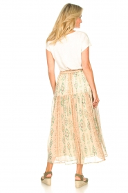Louizon |  Maxi skirt with drawstring Jarno | nude  | Picture 7