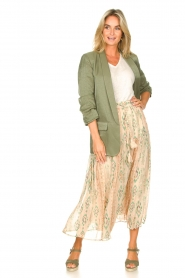 Louizon |  Maxi skirt with drawstring Jarno | nude  | Picture 3