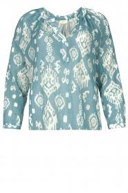 Louizon |  Cotton blouse Sain Bart | blue  | Picture 1
