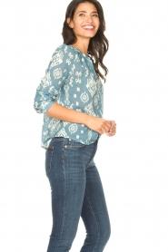 Louizon |  Cotton blouse Sain Bart | blue  | Picture 5