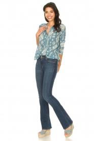 Louizon |  Cotton blouse Sain Bart | blue  | Picture 3