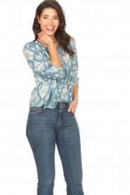 Louizon |  Cotton blouse Sain Bart | blue  | Picture 4