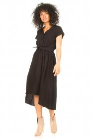 Louizon |  Midi dress Clara | black  | Picture 2