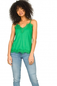 CC Heart |  Top with lace Puck | green  | Picture 2