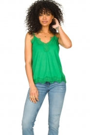 CC Heart |  Top with lace Puck | green  | Picture 3
