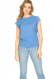 CC Heart |  Cotton mix t-shirt Classic | blue  | Picture 2
