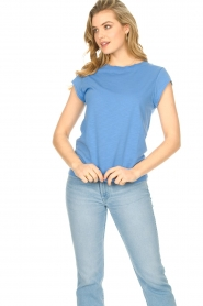 CC Heart |  Cotton mix t-shirt Classic | blue  | Picture 3