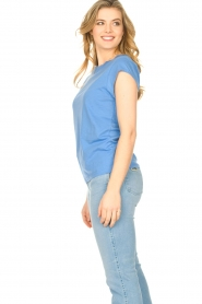 CC Heart |  Cotton mix t-shirt Classic | blue  | Picture 4