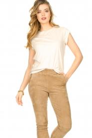 CC Heart |  Cotton mix t-shirt Classic | beige  | Picture 3