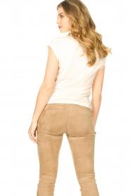 CC Heart |  Cotton mix t-shirt Classic | beige  | Picture 5