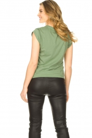 CC Heart |  Cotton mix v-neck T-shirt Vera | green  | Picture 5