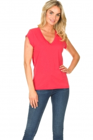 CC Heart |  V-neck T-shirt Vera | red  | Picture 2