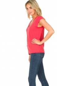 CC Heart |  V-neck T-shirt Vera | red  | Picture 3