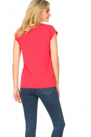 CC Heart |  V-neck T-shirt Vera | red  | Picture 4