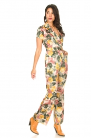 Kocca |  Jumpsuit with leaves print Rakanja | multi  | Picture 3