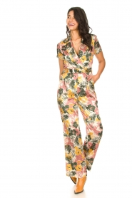 Kocca |  Jumpsuit with leaves print Rakanja | multi  | Picture 4