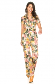 Kocca |  Jumpsuit with leaves print Rakanja | multi  | Picture 2