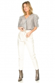 Kocca :  Cropped blouse with silver lurex Amani | black - img3
