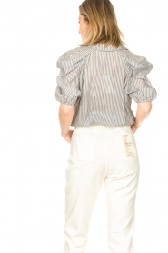 Kocca :  Cropped blouse with silver lurex Amani | black - img7