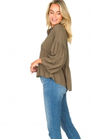 Kocca |  Blouse with wide sleeves | green  | Picture 6