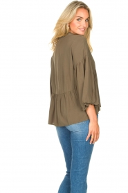 Kocca |  Blouse with wide sleeves | green  | Picture 7