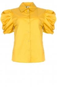 Kocca |  Poplin blouse Purca | yellow  | Picture 1