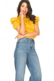 Kocca |  Poplin blouse Purca | yellow  | Picture 5