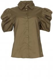 Kocca |  Poplin blouse Purca | green  | Picture 1