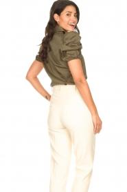 Kocca |  Poplin blouse Purca | green  | Picture 7
