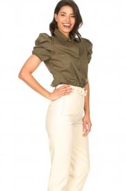 Kocca |  Poplin blouse Purca | green  | Picture 6