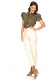 Kocca |  Poplin blouse Purca | green  | Picture 3
