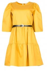 Kocca |  Poplin dress Nandini | yellow  | Picture 1